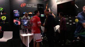 Paquito Navarro con Fabrice Pastor, en su presentación como nuevo jugador de Bullpadel