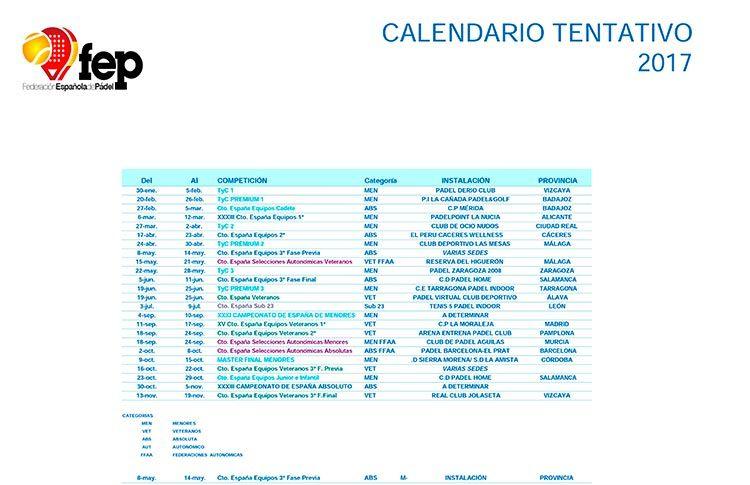 Un año de grandes torneos para la Federación Española de Pádel