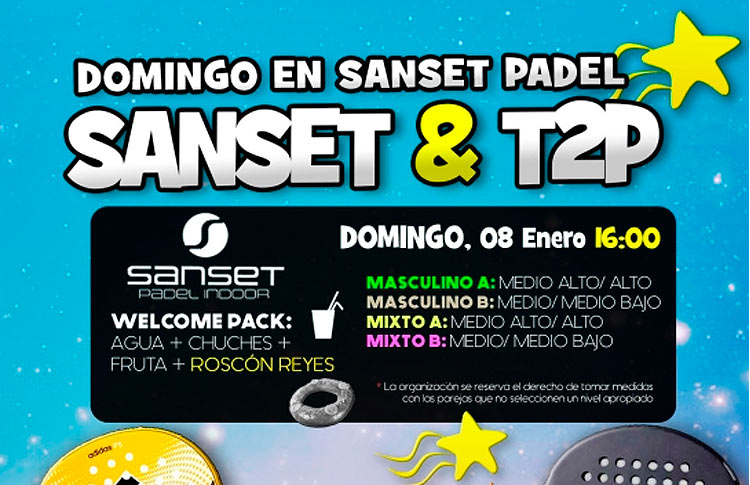 Cartel del Torneo de Time2Pádel en Sanset Pádel Indoor