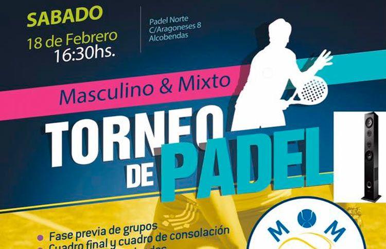 Affiche du tournoi MOM Pádel sur les courts de tennis North Paddle