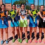 Jugadoras del StarVie Team, integrantes del MCI Sports-Arena Entrena Pádel