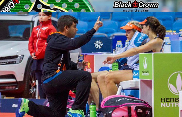 Juan Alday, al frente de Marta Marrero-Alejandra Salazar en el Santander Open 2017 (World Pádel Tour)