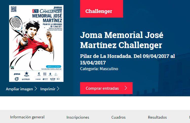 Se acerca el inicio del Joma Challenger - Memorial José Martínez