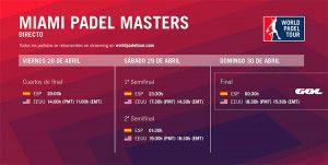 GOL emitirá la final del Miami Padel Master