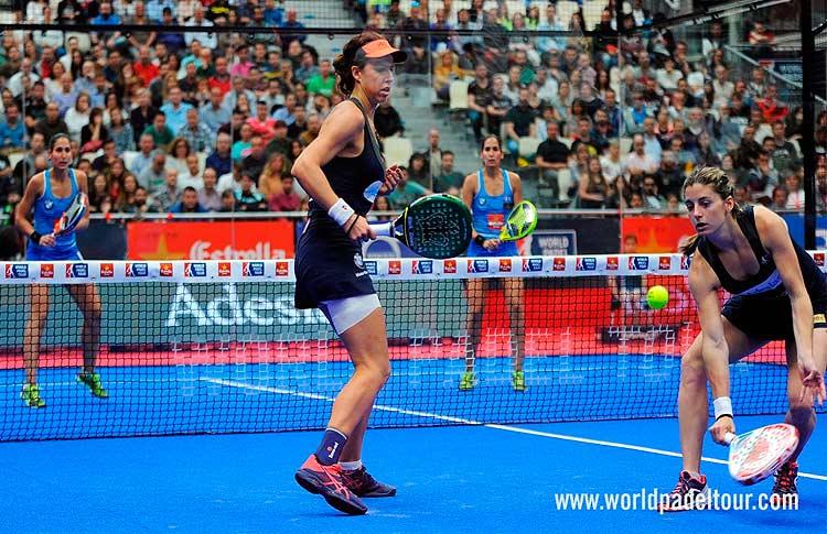 Alejandra Salazar y Marta Marrero, en acción en el A Coruña Open 2017