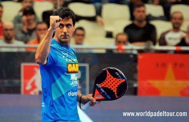 Borja Yribarren, en acción en el A Coruña Open 2017