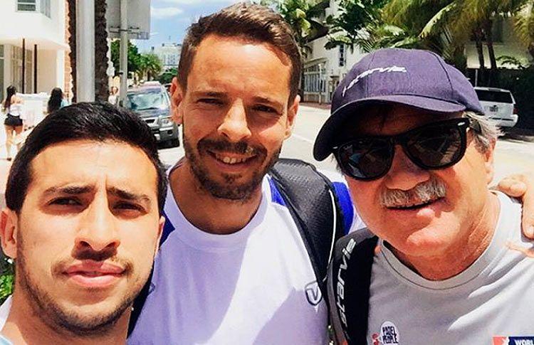 Chiqui Cepero, con Aday Santana y Horacio Álvarez Clementi