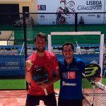 Rafa Méndez y Javier Valdés, en acción en el Lisboa Challenger 2017