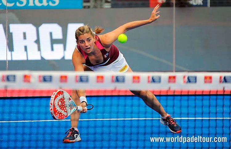 Alejandra Salazar, en acción en el Valladolid Open 2017