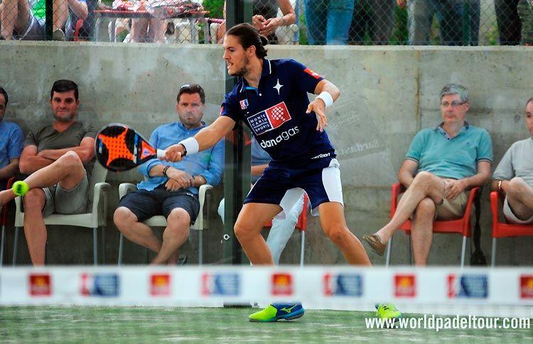 Andoni Bardasco, en acción en el Valladolid Open 2017