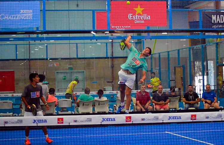 Juan Tello-Fede Chingotto, en acción en el Joma Madrid Challenger 2017 (World Pádel Tour)