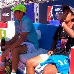 Juan Tello y Fede Chingotto, en acción en el Valladolid Open 2017