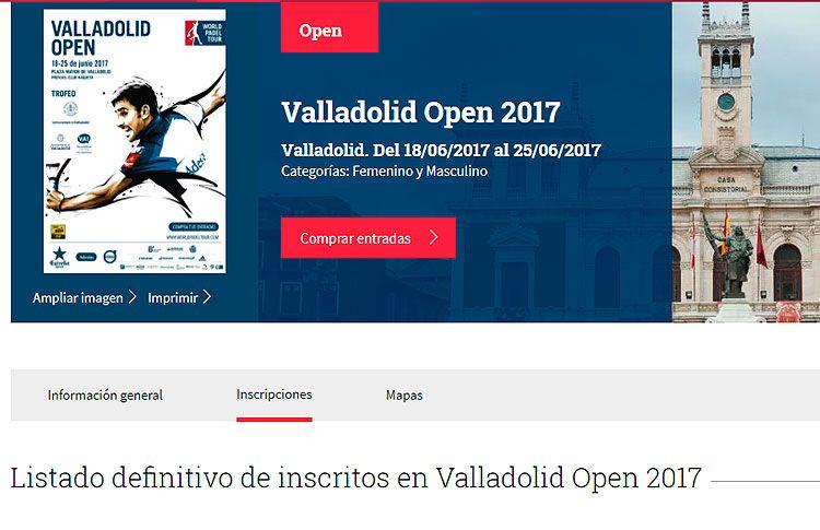 Casi 145 parejas estarán presentes en el Valladolid Open