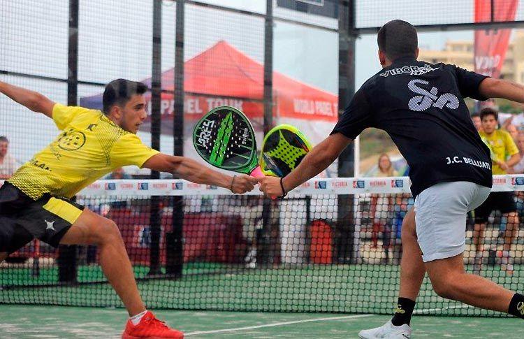 Ale Galán-Juan Cruz Belluati, en acción en el Costa del Sol Open 2017