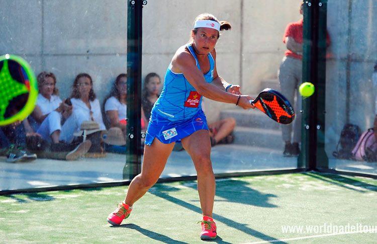 Carolina Navarro, en acción en el Costa del Sol Open 2017