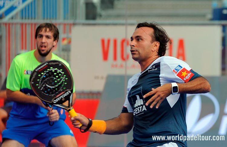 Godo Díaz y Lucho Capra, en acción en el Costa del Sol Open 2017