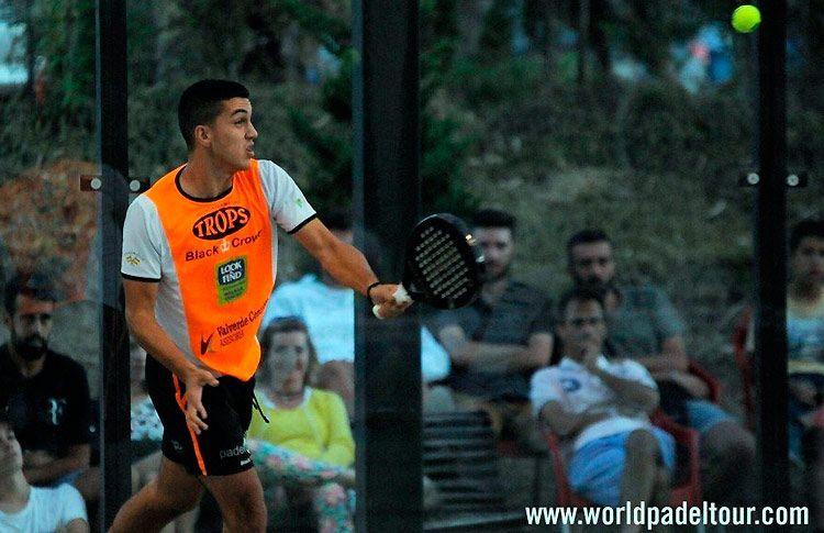 José Carlos Gaspar, en acción en la Pre-Previa del Costa del Sol Open 2017