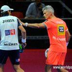 Miguel Lamperti y Juani Mieres, en acción en el Gran Canaria Open 2017