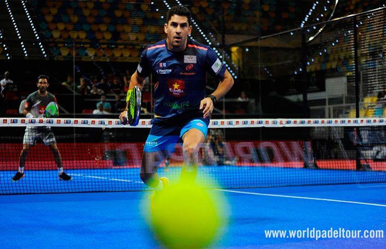 Maxi Sánchez, en acción en el Gran Canaria Open 2017 (World Pádel Tour)