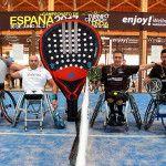 Ósar Agea et son temps dans le Championnat d'Espagne Paddle en fauteuil roulant