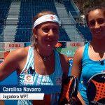 Carolina Navarro y Bea González, talento malagueño en el Circuito World Pádel Tour