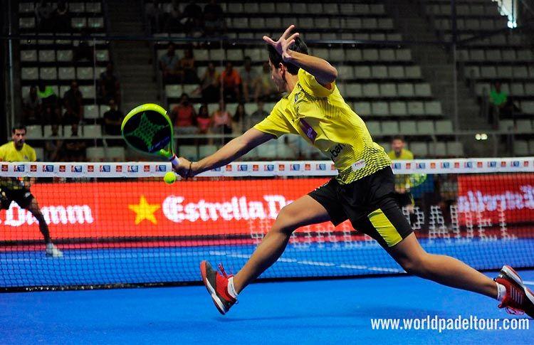 Ale Galán, en acción en el Estrella Damm Alicante Open 2017