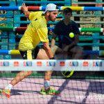 Javi Garrido, em ação no Estrella Damm Alicante Open 2017