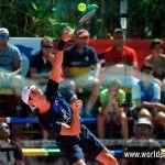 Gonzalo Rubio, en acción en el Estrella Damm Alicante Open 2017