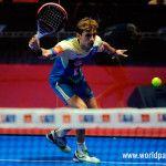 Franco Stupaczuk, en acción en el Estrella Damm Alicante Open 2017