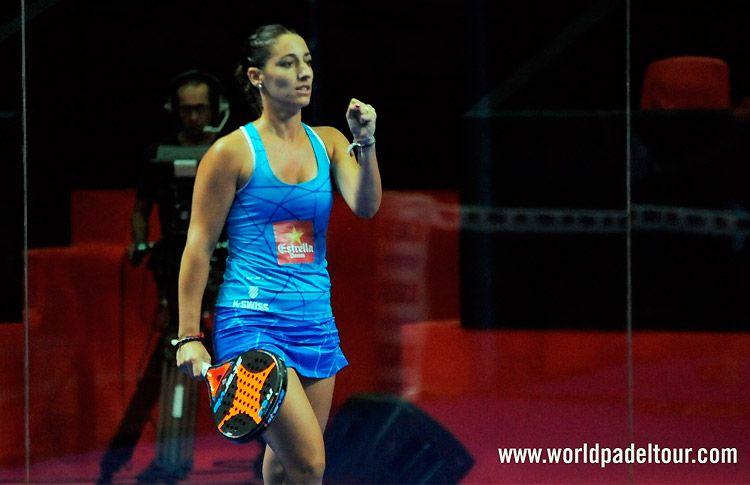 Teresa Navarro, en acción en el Estrella Damm Alicante Open 2017