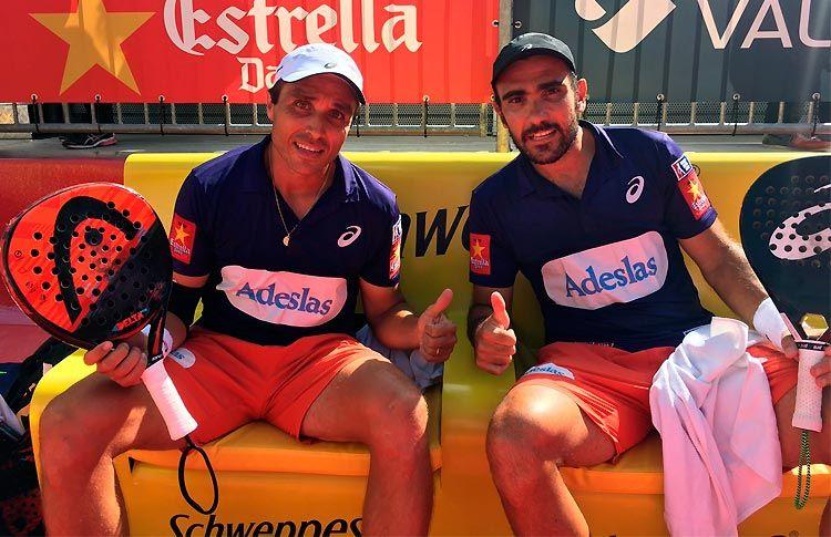 Fernando Belasteguín y Pablo Lima, en acción en el Andorra Open 2017