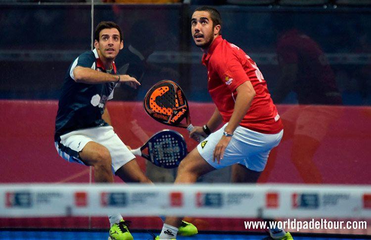Martín Sánchez Piñeiro y José Antonio García Diestro, en acción en el Andorra Open 2017