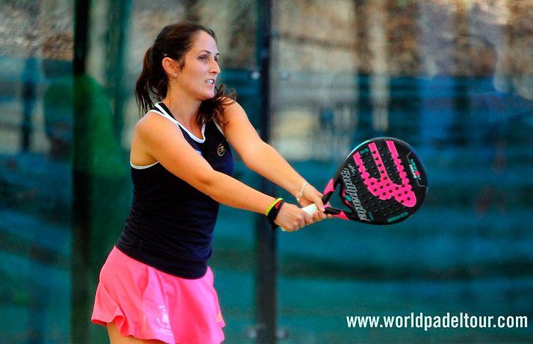 Esther Lasheras, en acción en el Sevilla Open 2017