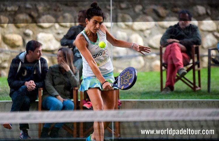 Gabriela Bartomioli, en acción en el Andorra Open 2017