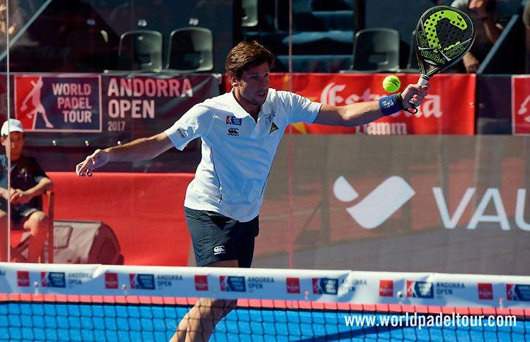 Nacho Gadea, en acción en el Andorra Open 2017