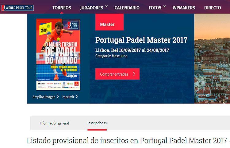 Un total de 88 parejas estarán presentes en un Portugal Padel Master que promete ser apasionante