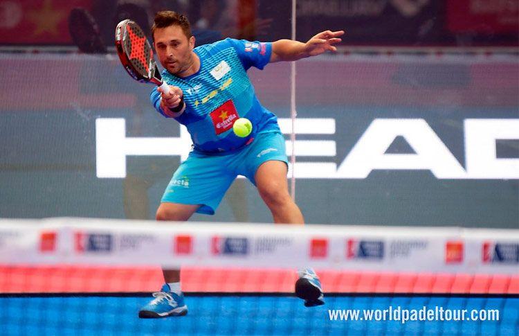Matías Díaz, en acción en el Andorra Open 2017