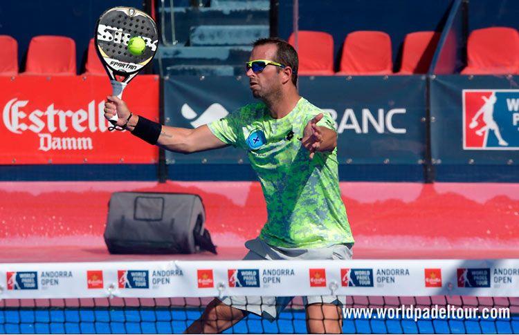 Germán Tamame, en acción en el Andorra Open 2017