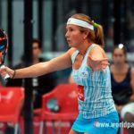 Carolina Navarro, en acción en el Granada Open 2017