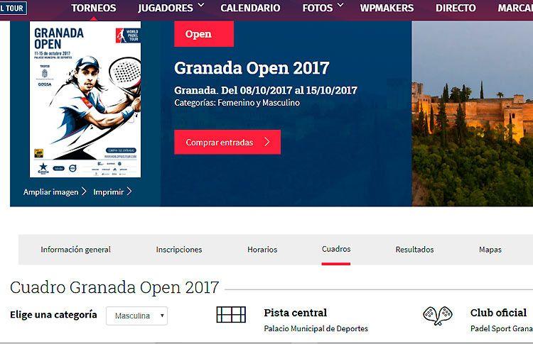 Granada Open: Todo listo para su inminente puesta en marcha