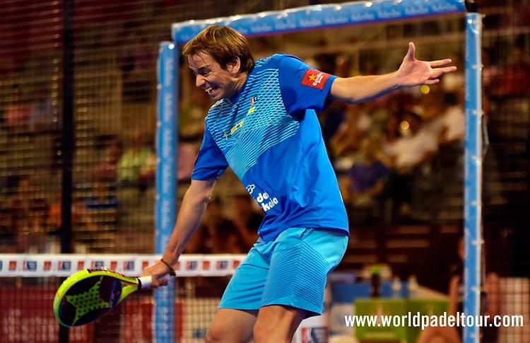 Marcello Jardim, en acción en el Granada Open 2017