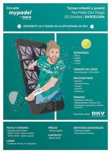 Barcelona espera un nuevo Torneo Junior del Circuito MyPadel by DKV