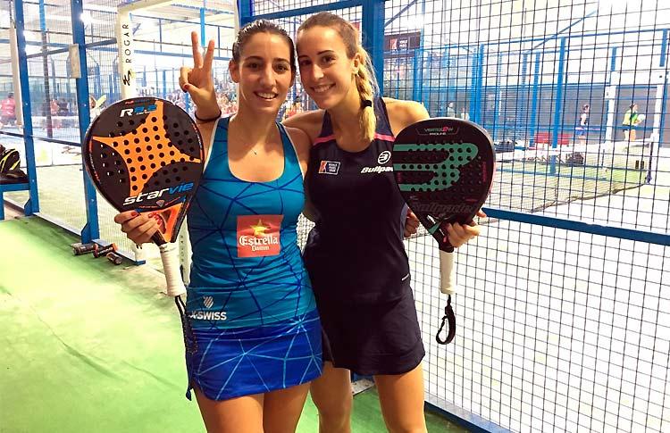 Victoria Iglesias-Teresa Navarro, en acción en el Zaragoza Open 2017