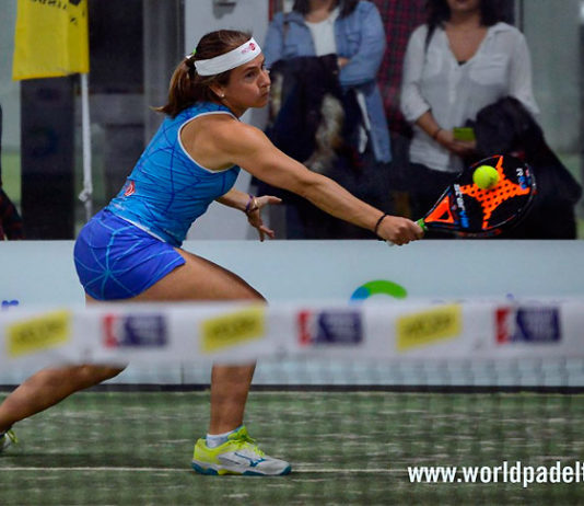 Carolina Navarro, en acción en el Keler Bilbao Open 2017