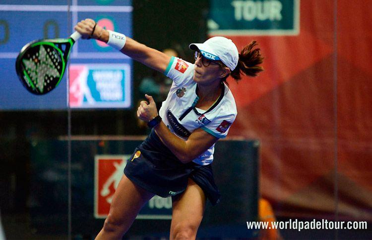 Lucía Sainz, en acción en el Keler Bilbao Open 2017