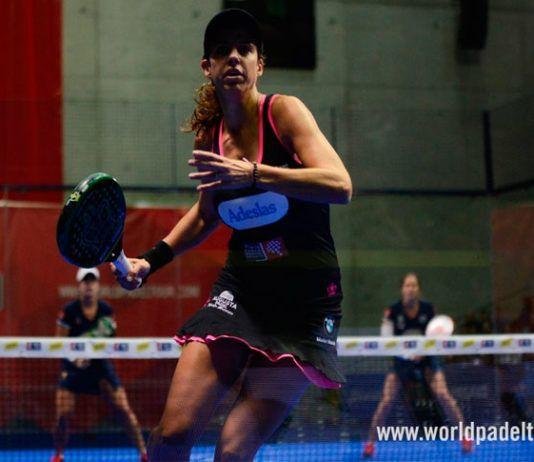 Marta Marrero, en acción en el Keler Bilbao Open 2017