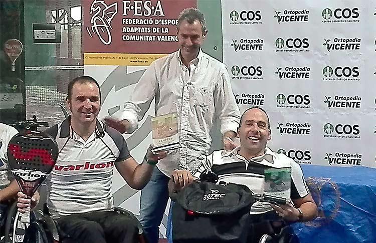 Óscar Agea-Edorta de Anta suman y siguen en la Copa de España de España de Pádel en Silla de Ruedas