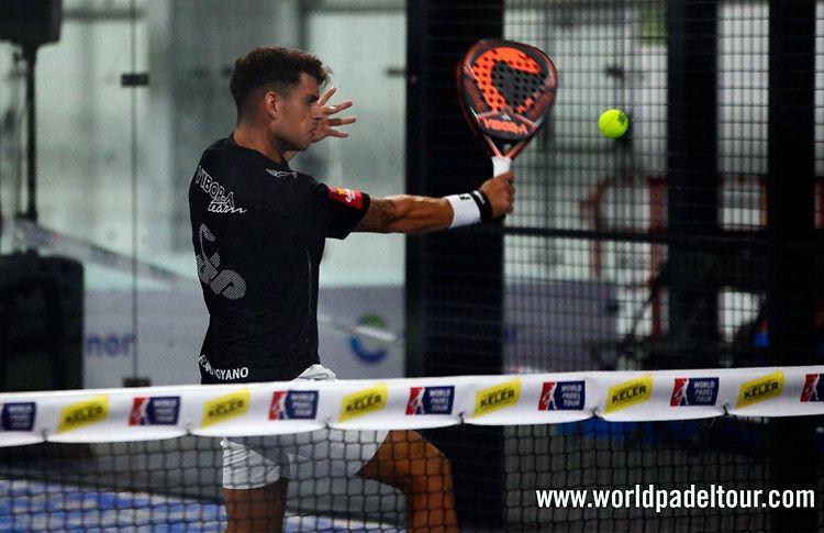 Ramiro Moyano, en acción en el Keler Bilbao Open 2017