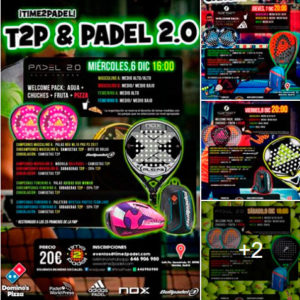 Cartel de los próximos torneos de Time2Padel