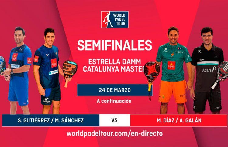 Estrella Damm Catalunya Master: Orden de Juego de Semifinales